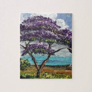 Tropical Jacaranda Tree Art Puzzles