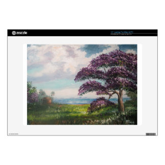 Tropical Jacaranda Tree Decal For Laptop