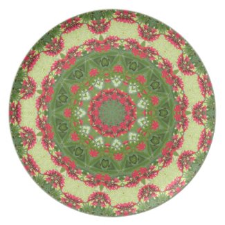 Tropical Jatropha Flowers Deco Plate plate