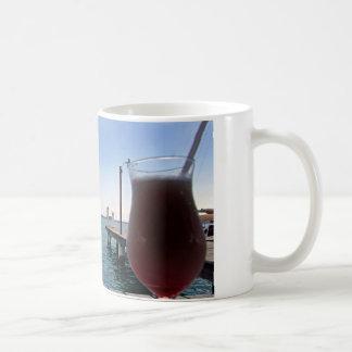 tropical jette and cocktail coffee mug