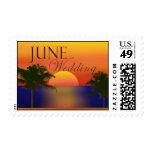 Tropical June Wedding Postage