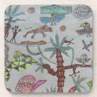 Tropical jungle kids coasters