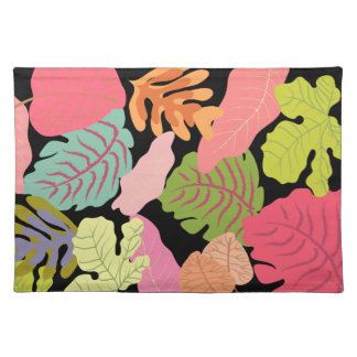 Tropical Jungle Leaves Pip Pip Hooray Vector Art Cloth Placemat