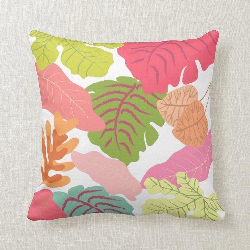Tropical Jungle Leaves Pip Pip Hooray Vector Art Throw Pillow Zazzle