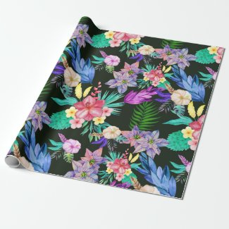 Tropical Jungle Plants Wrapping Paper
