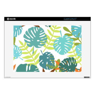 "Tropical jungle with palm leaves decal for 15"" laptop"