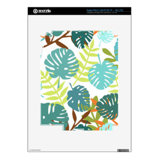 Tropical jungle with palm leaves iPad 3 skin