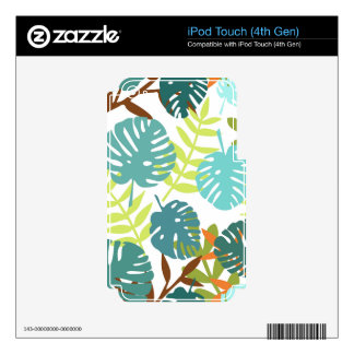 Tropical jungle with palm leaves iPod touch 4G skins
