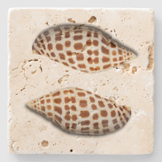 Tropical Junonia Seashells Coasters