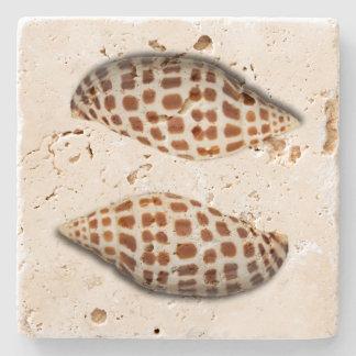 Tropical Junonia Seashells Coasters Stone Coaster