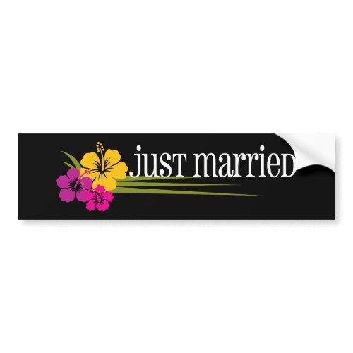 Tropical_JustMarried bumpersticker