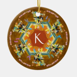 Tropical Kayak Christmas Tree Ornament