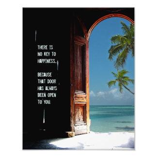 Tropical Key to Happiness Door Print
