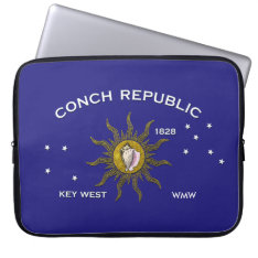 Tropical Key West Flag Personalize Laptop Sleeve at Zazzle