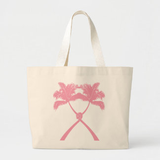 Tropical Knotted Palm Trees Beach Wedding Tote Bag