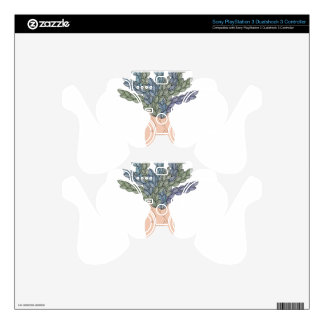 Tropical lady A PS3 Controller Decal
