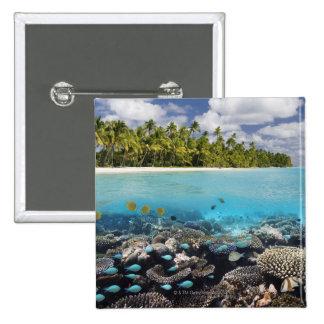 Tropical Lagoon in South Ari Atoll Button