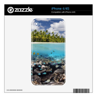 Tropical Lagoon in South Ari Atoll Decal For The iPhone 4S