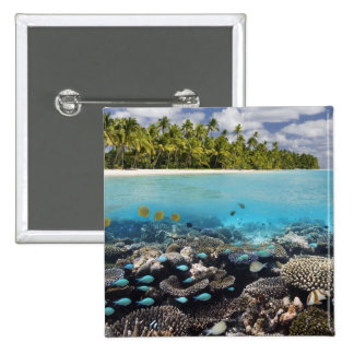 Tropical Lagoon in South Ari Atoll in the Pinback Button