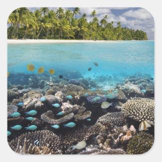 Tropical Lagoon in South Ari Atoll in the Square Sticker