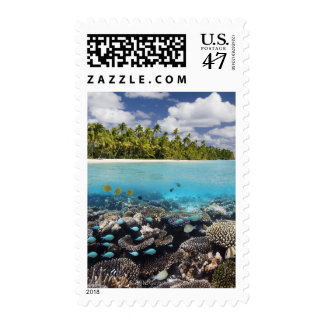Tropical Lagoon in South Ari Atoll Postage