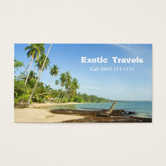 Tropical Landscape, Exotic Travels, Call (007) ... Business Card