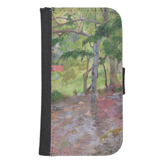 Tropical Landscape, Martinique, 1887 Wallet Phone Case For Samsung Galaxy S4