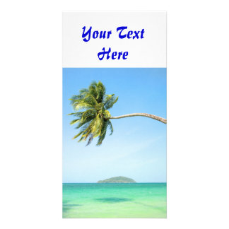 Tropical Landscape Custom Photo Card