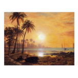 Tropical Landscape With Fishing Boats by Bierstadt Postcard