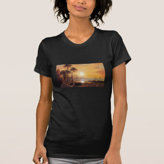 Tropical Landscape With Fishing Boats by Bierstadt T-Shirt