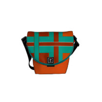 Tropical  Lava Burst Mini Courier Bag
