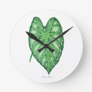 Tropical Leaf #2 gift Round Clock