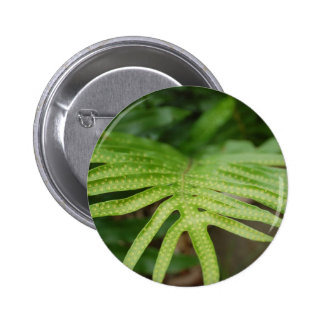 Tropical Leaf Pinback Buttons