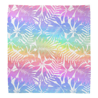 Tropical leaf chevron bandana