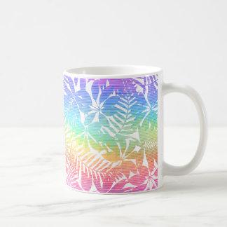 Tropical leaf chevron coffee mug