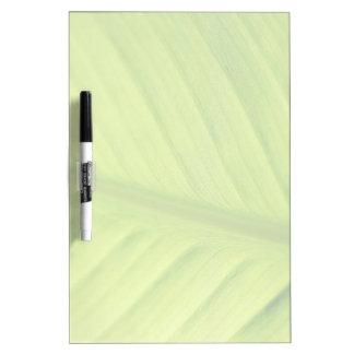 tropical leaf fade dry erase board