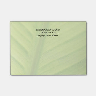 Tropical leaf fade post-it notes