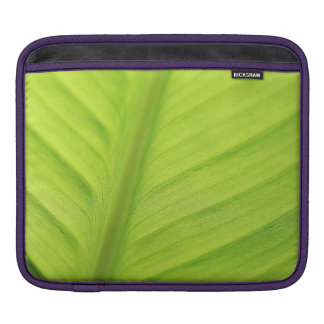 Tropical leaf iPad sleeve