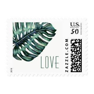 Tropical Leaf Monstera Destination LOVE Stamp