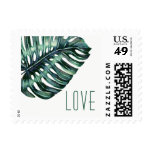Tropical Leaf Monstera Destination LOVE Stamp