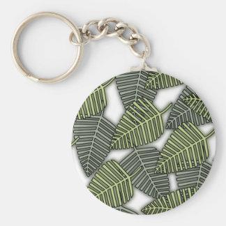 Tropical Leaf Pattern. Key Chains