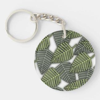 Tropical Leaf Pattern. Acrylic Keychains