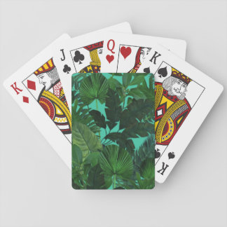 Tropical Leaf Pattern Playing Cards