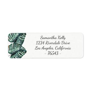 Tropical Leaf Return Address Label