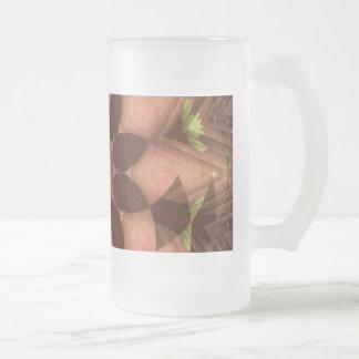 Tropical Leaf star Frosted Glass Beer Mug
