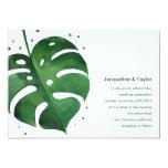 Tropical Leaf Wedding Invitation at Zazzle