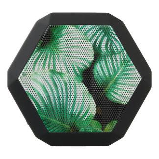 Tropical Leaves Black Bluetooth Speaker