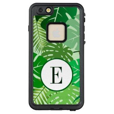 Tropical Leaves Botanical Foliage Cute Monogram LifeProof FRĒ iPhone 6/6s Plus Case