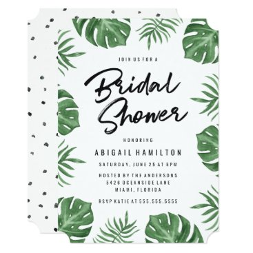 Tropical Leaves | Bridal Shower Invitation