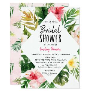 11a8dfbbb43b6 Tropical Leaves Bridal Shower Invitation Card